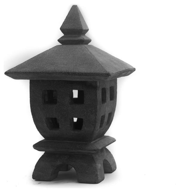 Asian Garden Art Part - 34: Mini Oki-Gata Lantern Asian-garden-statues-and-yard-art