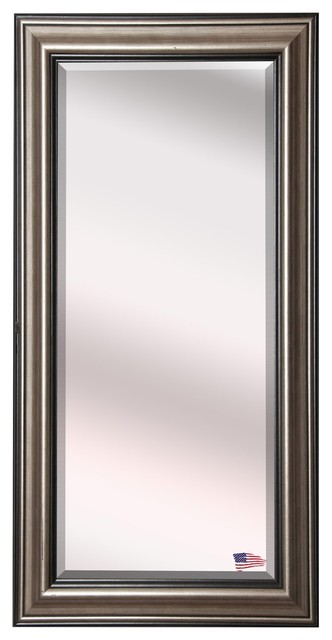 Us Made Antique Silver Beveled Oversized Full Body Mirror, Oversized.