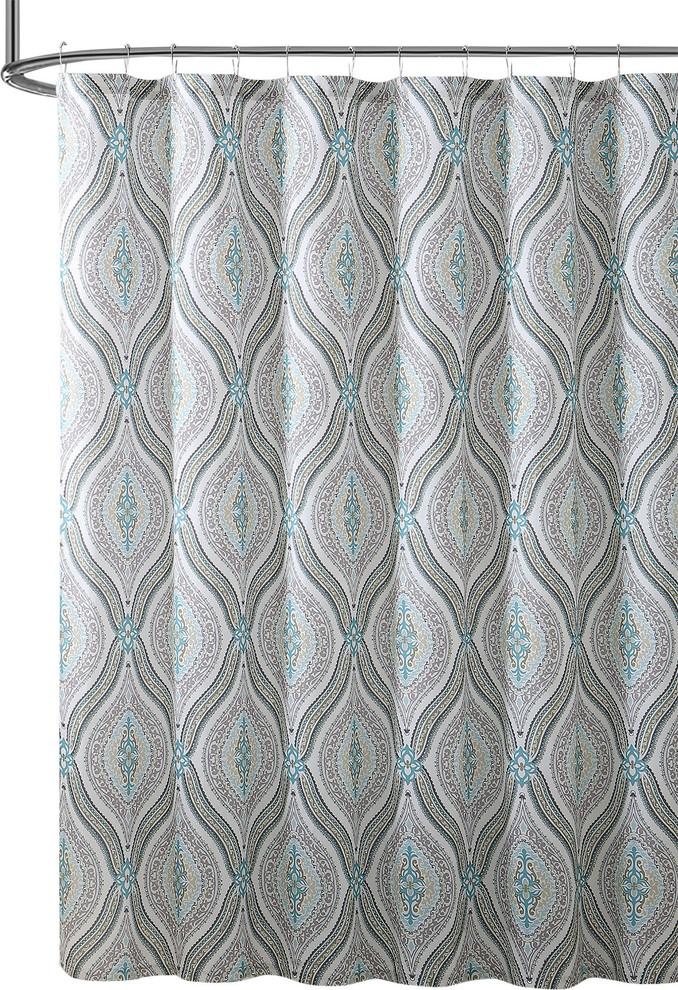 Elegant Fabric Shower Curtain Teardrop