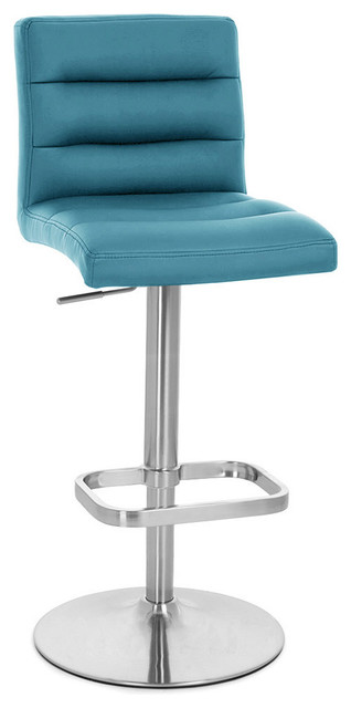 Lush Adjustable Height Swivel Armless Barstool