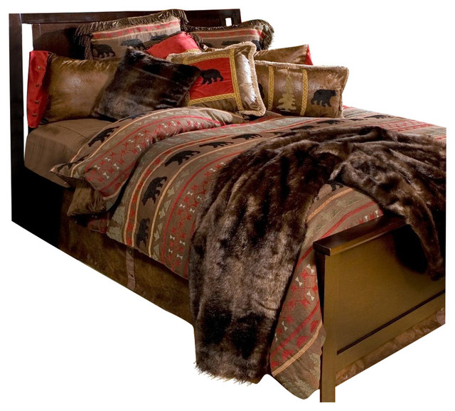 bear country cabin bedding set twin sets