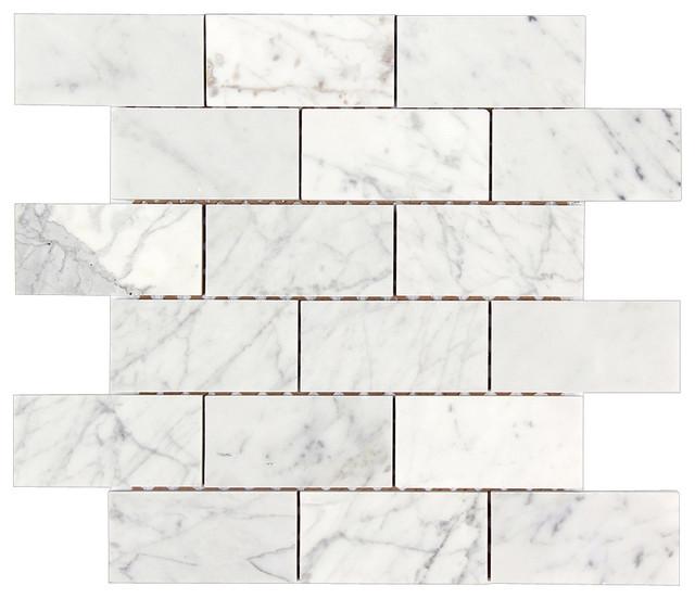 All Marble Tiles 12 X12 Bianco Carrara Polished Brick