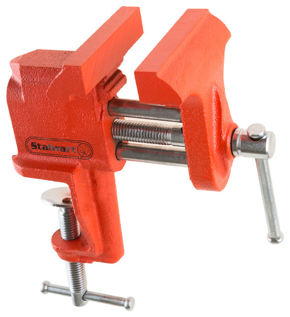 Clamp On Vise With 3 Inch V Jaw For Table And Bench By Stalwart.