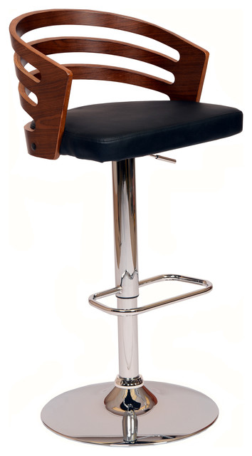 Deshield Swivel Bar Stool, Black.