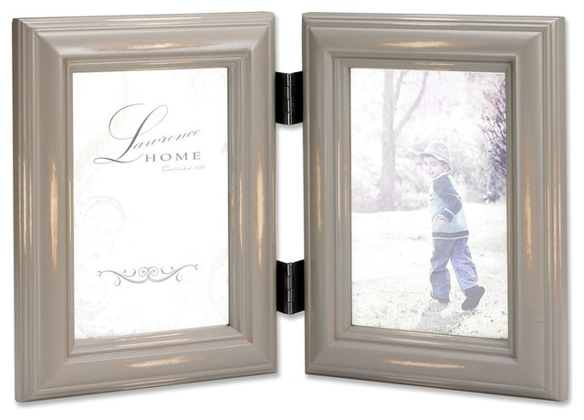 weathered gray 4x6 hinged double farmhouse picture frames