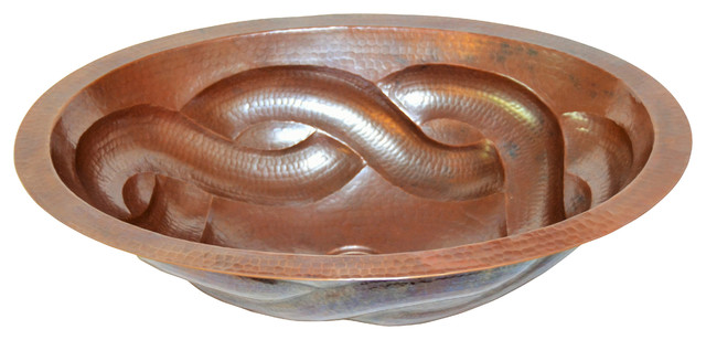 Rope Hand Made Copper Sink.