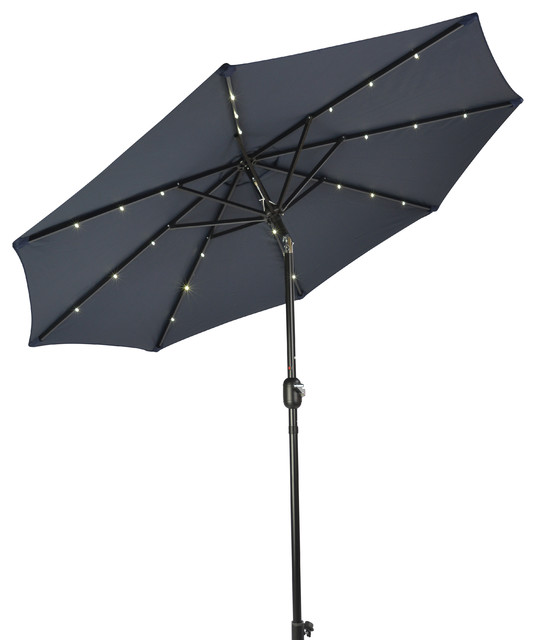 Deluxe Solar Powered Led Lighted Patio Umbrella 10