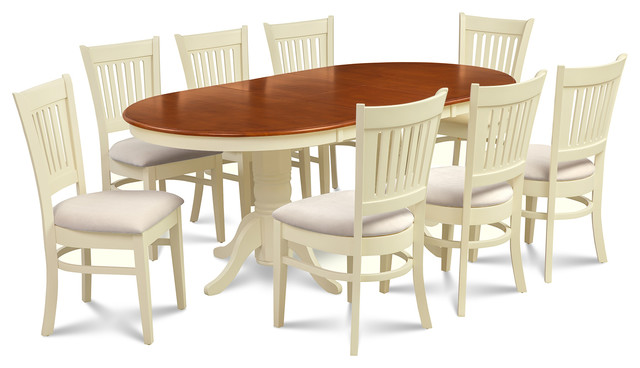 M d furniture 9 piece dining room set table with a for 9 piece dining room set with leaf