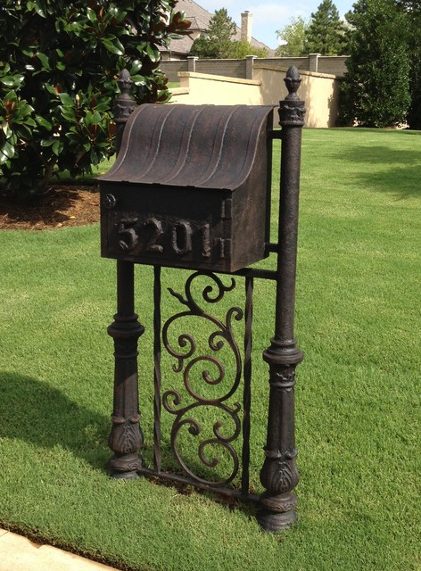 wrought iron mailbox post custom windows amp doors mailboxes houston by grunburg 1666