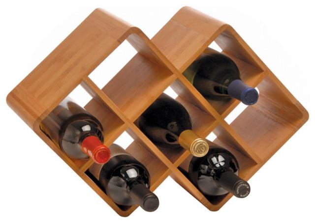 Bamboo 8-Bottle Rack.
