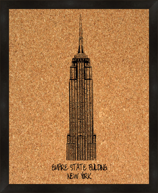 empire state building cork board