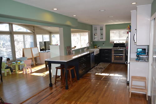 Kitchen Renovation And Expansion Into Sunroom