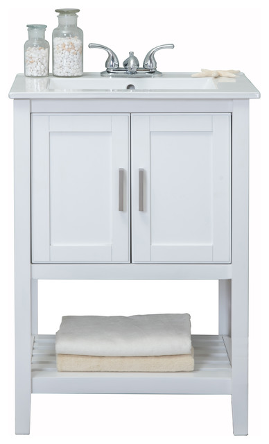 """Legion Furniture Sink Vanity Without Faucet, 24"""", White"""