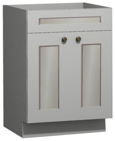 Superior White Shaker 27 Inch Vanity From US Cabinet Depot Traditional Bathroom  Vanities And