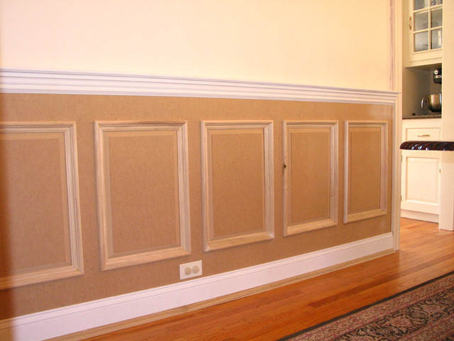 Raised panel wainscoting traditional new york by jl molding design for How high should wainscoting be in a bathroom