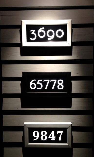 Address led illuminated house numbers