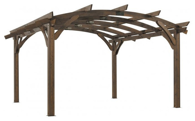 Outdoor Greatroom 16&x27;x16&x27; Mocha Sonoma Wood Pergola Kit.