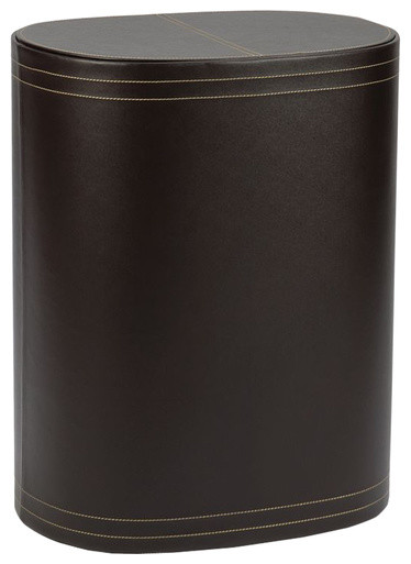 Leather Laundry Bin Brown Contemporary Laundry Baskets