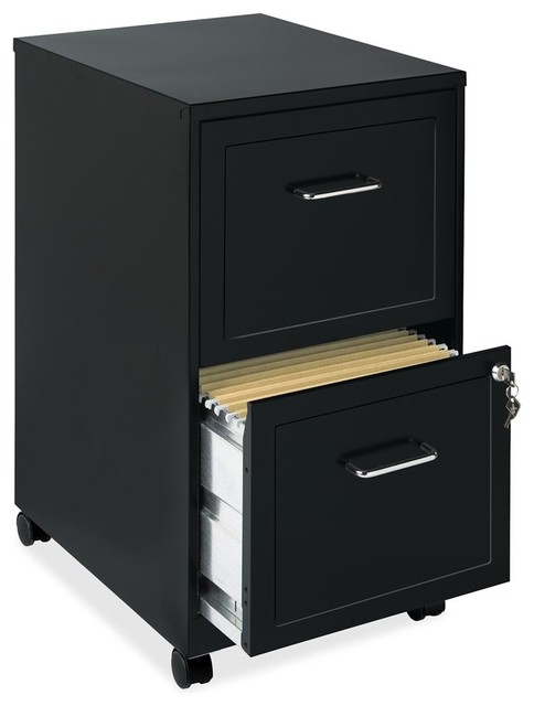 "Lorell Soho 18 2-Drawer Mobile Cabinet, 14.3""X18""X24.5"", Steel - Contemporary - Filing Cabinets ..."