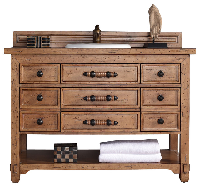 farmhouse bathroom vanity cabinets malibu 48 quot honey alder single vanity farmhouse 18278