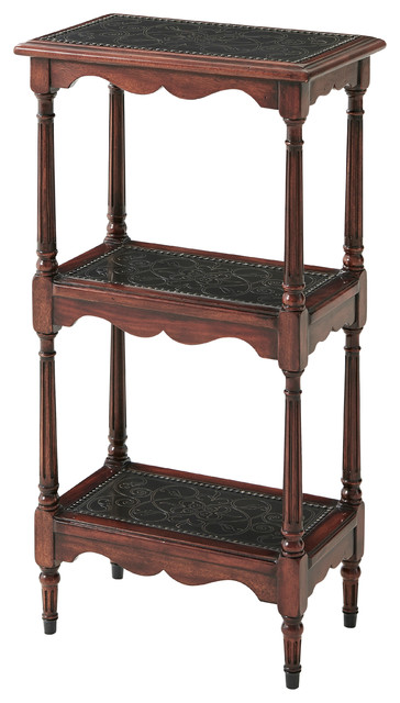 An Engraved Whatnot Etagere