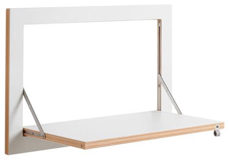 Fläpps Midsized Birch Plywood Shelf, White