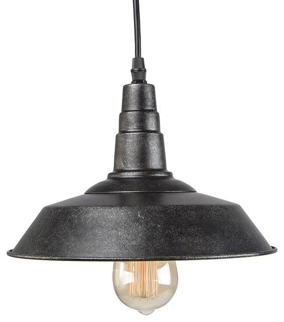 Industrial Blackened Steel Pendant Lighting Indoor Ceiling Lights Barn Light.