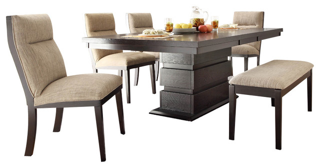 Homelegance Tanager 6 Piece Dining Room Set In Dark Espresso Dining Sets Part 72