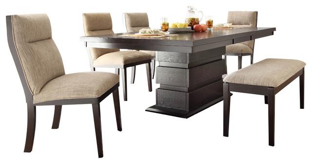 Homelegance Tanager 6 Piece Dining Room Set In Dark Espresso
