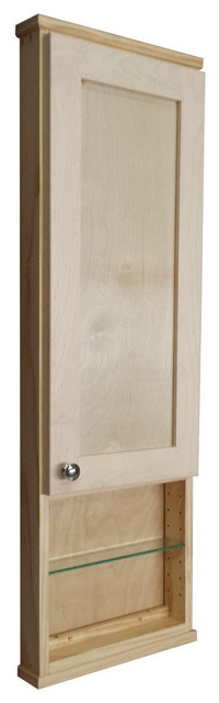 "43.5"" Danville Series On-The-Wall Cabinet, 12"" Open Shelf 7.25"" Deep Inside."
