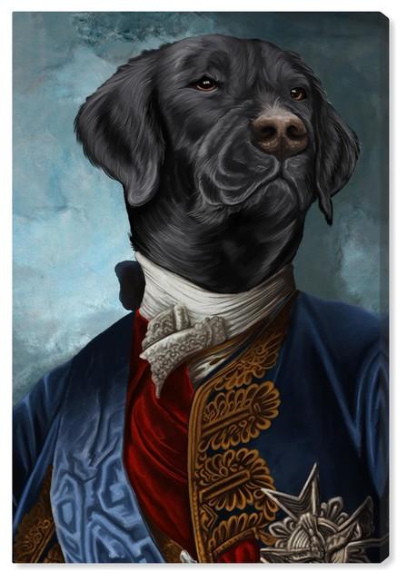 """Gentleman Black Lab"" Canvas Art Print, 25x40 cm"