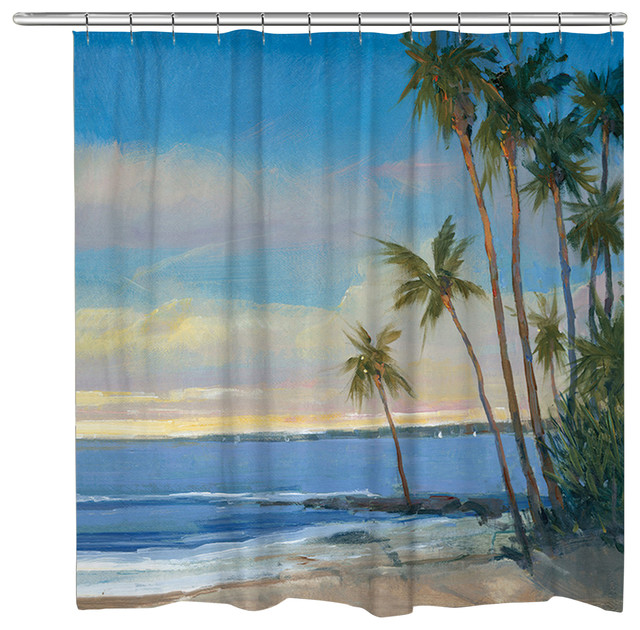 Tropical Breeze Shower Curtain Tropical Shower Curtains