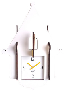 Wolf Corporation Wooden Jigsaw Cuckoo Clock Cuckoo