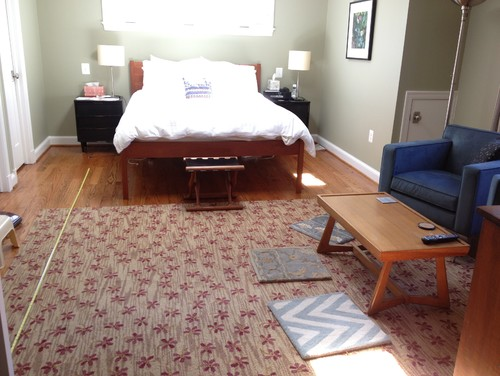 Bedroom - 1 large area rug or 2 area rugs?