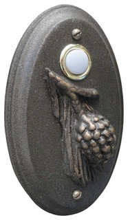 Pine Cone Wired Doorbell Oil Rubbed Bronze Rustic