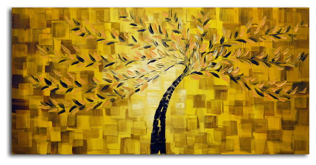 Textured Tree Original Oil Painting On Canvas Contemporary Paintings