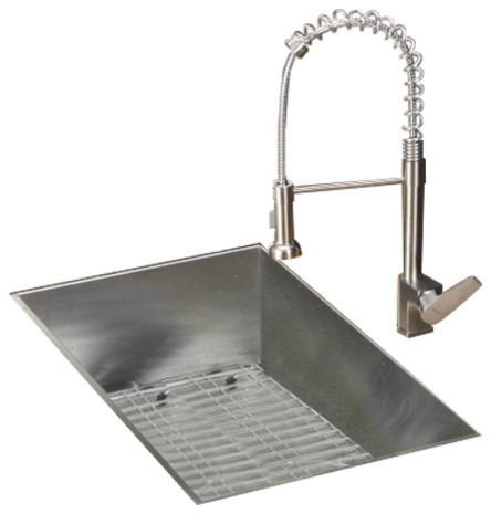 Ruvati Rvc1602 Stainless Steel Kitchen Sink And Stainless