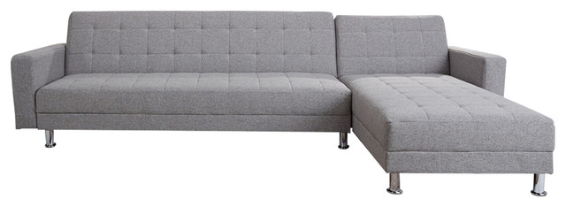 Frankfort Convertible Sectional Sofa Bed Ash contemporary-sleeper-sofas  sc 1 st  Houzz : convertible sofa sectional - Sectionals, Sofas & Couches