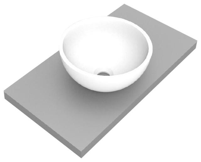 Circular Corian Bathroom Sink, 37 cm