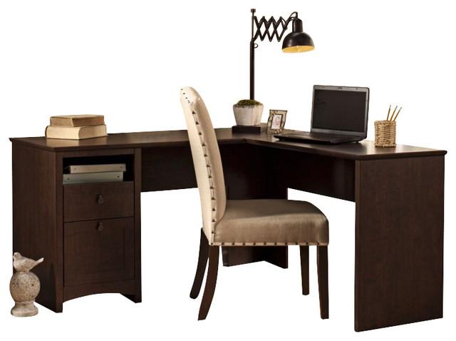 Bush Buena Vista 60 Quot L Shaped Desk In Madison Cherry
