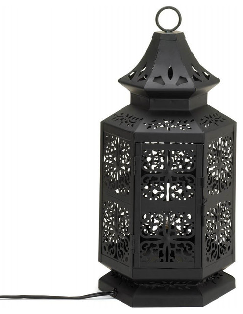 large moroccan style table lamp table lamps by j. Black Bedroom Furniture Sets. Home Design Ideas