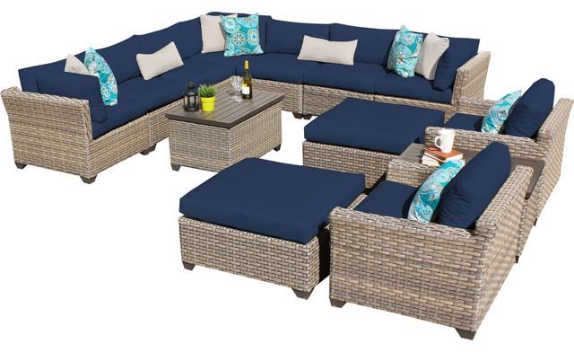 Monterey 13 Piece Outdoor Wicker Furniture Set 13a.