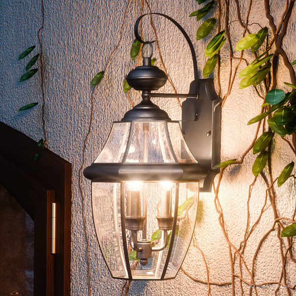 Luxury Colonial Black Outdoor Wall, Large Black Outdoor Wall Lighting