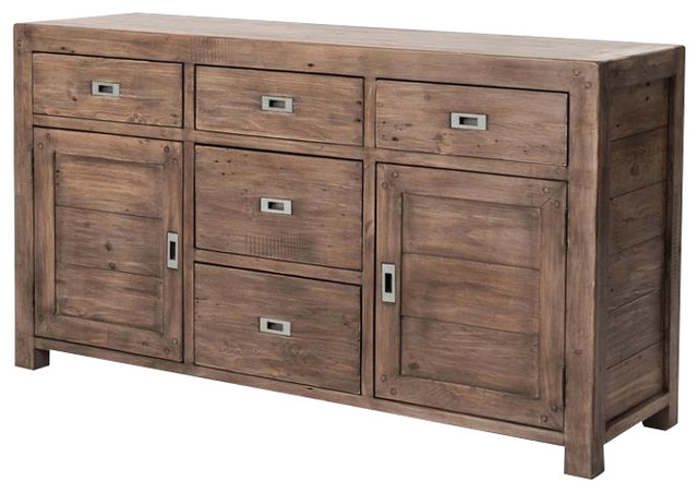 Parsons Reclaimed Wood Sideboard Buffet 61'' - Rustic - Buffets And Sideboards - by Zin Home
