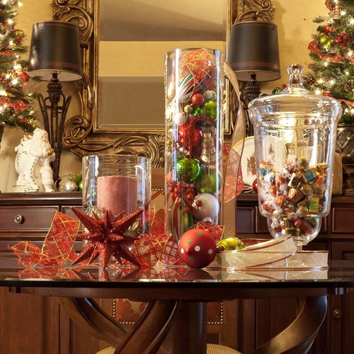 Holiday Decorating Tip Fill Cylinders With Ornaments Use