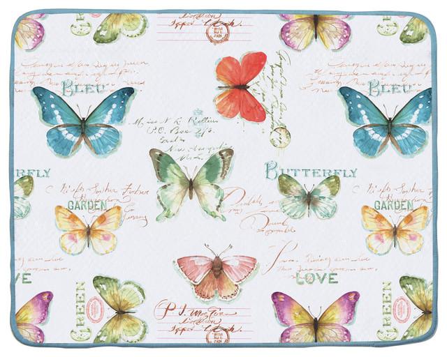 Drying Mat Butterfly Garden Dish Racks By Lange