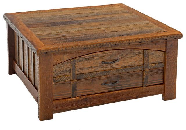 Barnwood Heritage Sawtooth Coffee Table Rustic Coffee