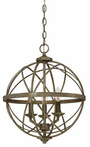 Millennium Lighting 2283 Lakewood 3 Light Foyer Pendant.