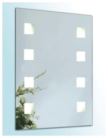 Illuminated Mirror Four Squares Contemporary