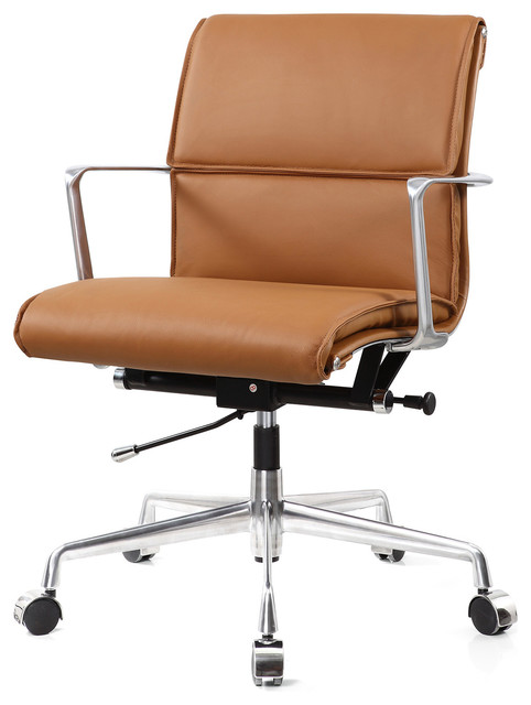 office chairs leather. m347 office chair, brown italian leather contemporary-office-chairs chairs